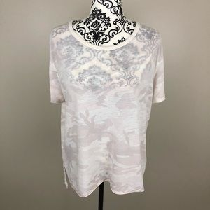 Free People We The Free pink camo T-shirt NWT
